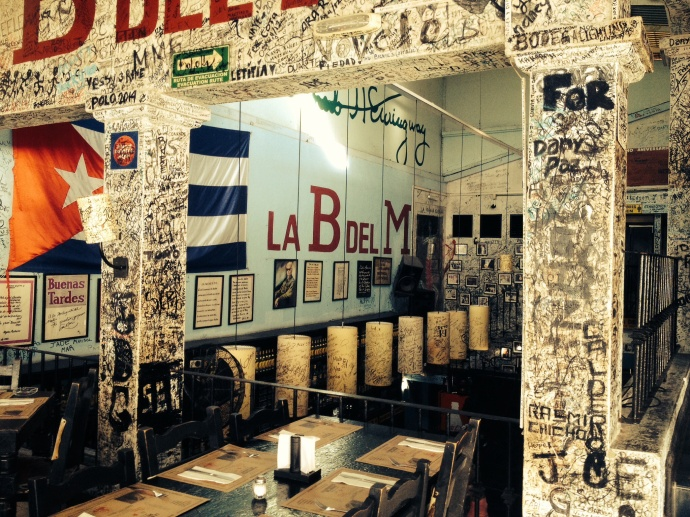 Funky Cuban restaurant where our team had our compulsory tequila shots