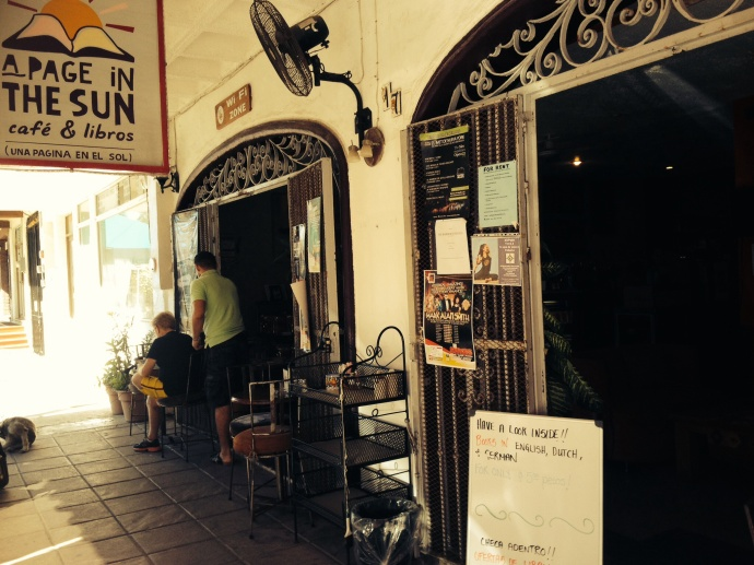 I found a bookshop! It was wonderful, but not many books fall under the 5pesos category, but they were still cheaper than home!