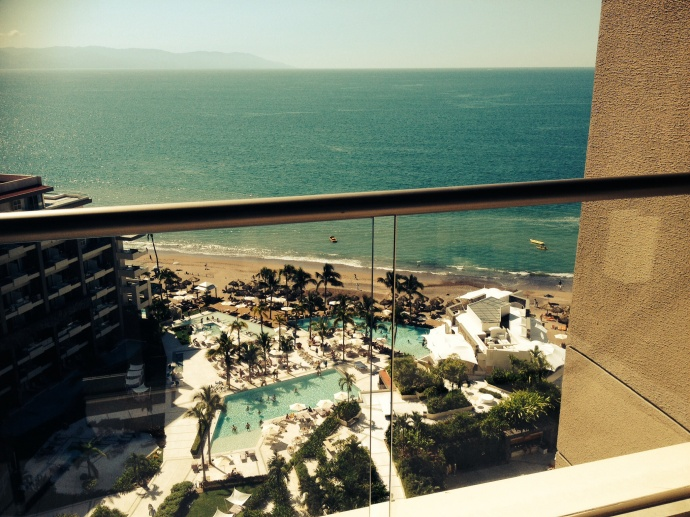 View from my room on the 14th floor!