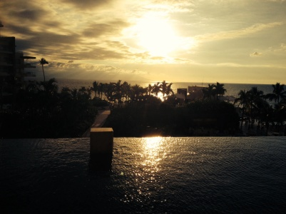 The infinity pool in the lounge