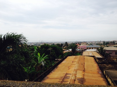 First morning in Kumasi, looking out from the roof of the Sarfo hotel