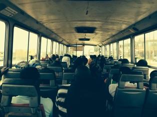 On Metro Mass Transit to visit Romeo in Duayaw Nknwanta! Got the last two seats.