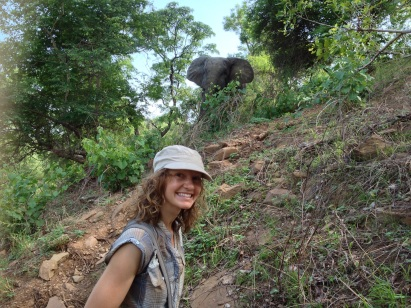 Happy faces the next morning on our safari walk!