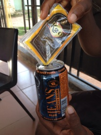 Poppo's stealth drinking - mixing K20 whiskey into his Blue Jeans energy drink