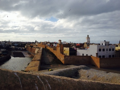 The town from inside the medina walls