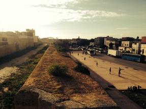 walking along the medina walls