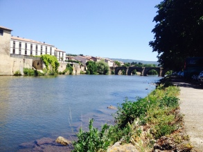The canal through Limoux