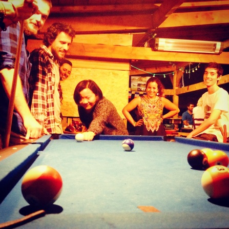 The pool table was fun until there was a crackdown on post-10pm playing :(