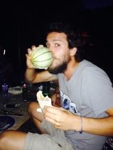Final falafel dinner with Luis!