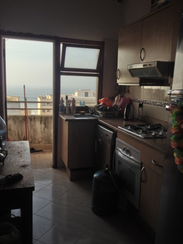 My cosy little ocean-view kitchen in my wonderful apartment!